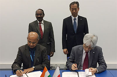 JAXA signs Implementation Arrangement (IA) with Indian Space Research Organization (ISRO) concerning cooperation on validations, improvement, and applications of rainfall products using satellite images and ground measurements