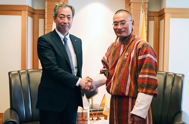 JAXA President Meets with Bhutan Prime Minister