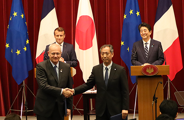JAXA and CNES Sign Implementing Arrangement on Martian Moons eXploration (MMX) and Hayabusa2