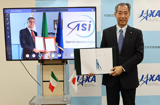 JAXA and ASI Sign Memorandum of Cooperation (MOC)
