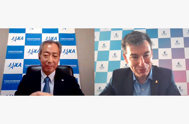 Dr. Yamakawa's Meeting with Centre National d'Études Spatiales CEO Philippe Baptiste