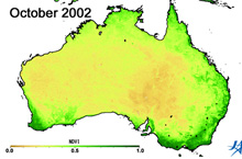 Climate anomalies in Australia (2002 to 2010)