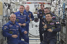 Astronaut Wakata's Assumption of the ISS Commander