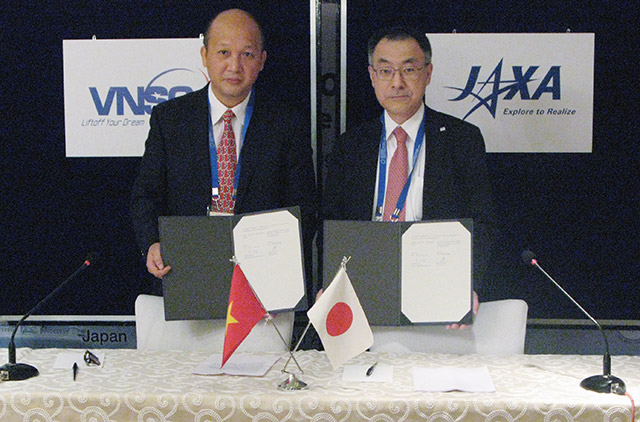 JAXA and VNSC sign a Cooperation Agreement in the field of Public Affairs
