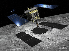 Hayabusa 2 will collect samples from an artificial crater (courtesy of Akihiro Ikeshita)