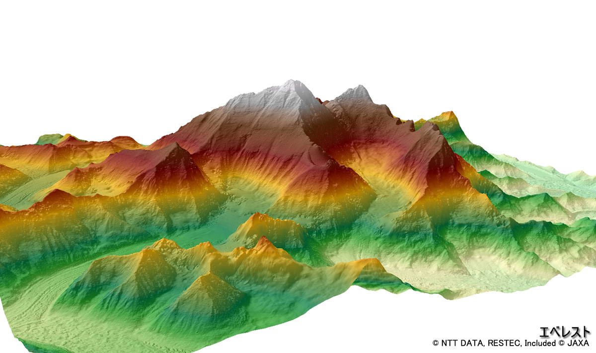 Jaxa a digital 3d map to support life around the world dem of mt everest gumiabroncs Gallery