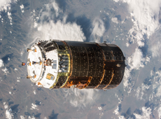 KOUNOTORI 5 approaching the ISS (courtesy of JAXA/NASA)