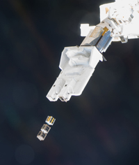 Deployment of small satellites (courtesy of JAXA/NASA)
