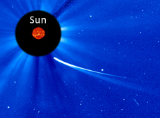 Comet ISON imaged by a solar observation satellite
