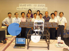 Training session for satellite specialists held at JAXA in 2008 (courtesy: VNSC)