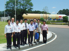 Group photo taken at JAXA's Tsukuba Space Center (courtesy: VNSC)