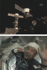 Astronaut Noguchi began ISS expedition