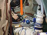 Astronaut Yui preparing for launch