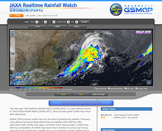 Release of the JAXA Realtime Rainfall Watch