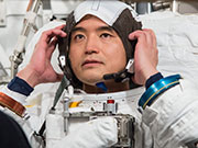 Astronaut Onishi under training for target launch date of June 24