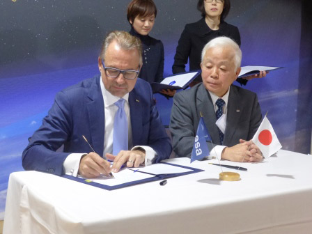 JAXA, ESA, CNES, DLR Shake hand on Remote Sensing Data