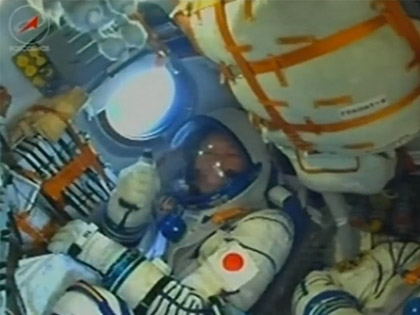 Soyuz launched with Astronaut Kanai onboard
