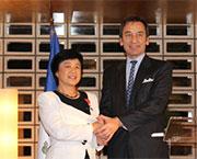 Astronaut Chiaki Mukai received Legion of Honour