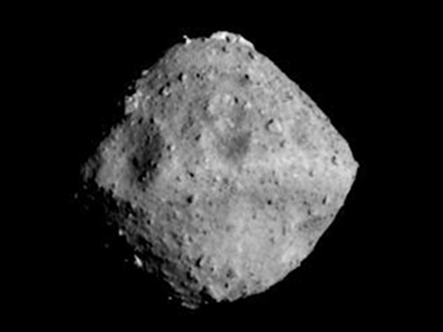Asteroid Ryugu seen from a distance of around 40km