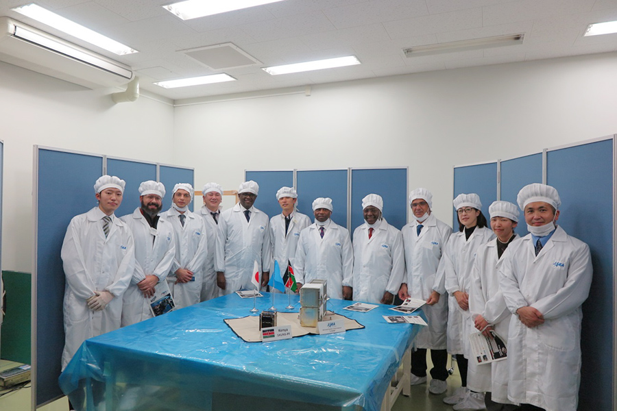 Handover of first KiboCUBE CubeSat developed by the team from the University of Nairobi