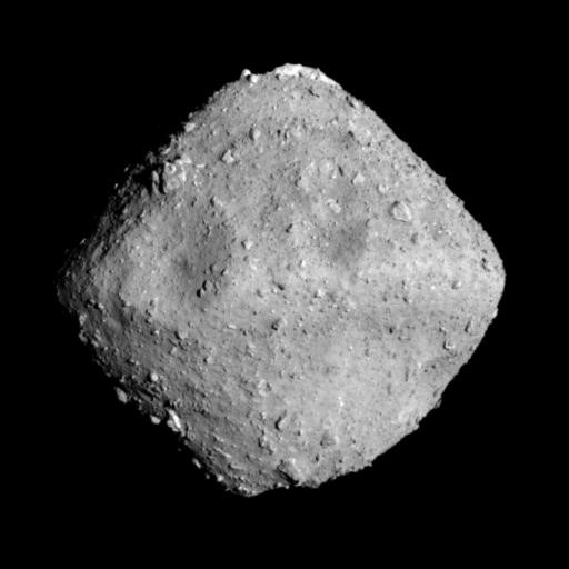 Optical Navigation Camera – Telescopic (ONC-T) image of Ryugu, photographed at 12:50 p.m. (JST), June 26, 2018.