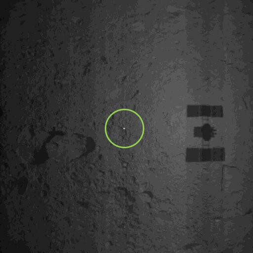 JAXA | Hayabusa2 Target Marker land on Ryugu