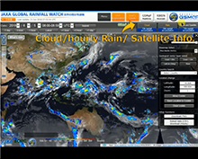 Extention of the domain of JAXA Realtime Rainfall Watch (GSMaP_NOW)