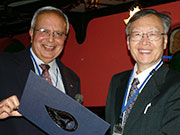 Certificate of appreciation to Japan and US TRMM scientists from JAXA and NASA