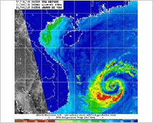 NOAA utilizes SHIZUKU data for typhoon monitoring