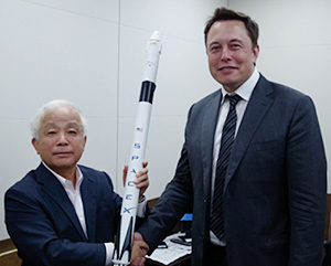 Mr. Elon Musk, CEO/CTO of Space Exploration Technologies (SpaceX) Visited JAXA