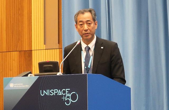 Participation of JAXA President in UNISPACE+50