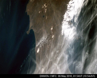 First shot of earth images captured by the Philippine satellite deployed by Kibo