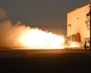 The static firing test of the second stage motor of M-35, the enhanced Epsilon Launch Vehicle carried out