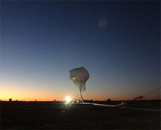 Scientific balloon experiment in Australia