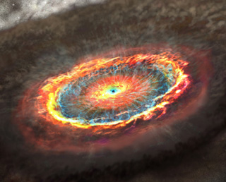 Galaxy Scale Outflow of Matter Stimulated by a Monster Black-hole