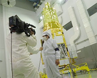ASTRO-H Satellite Shown to the Public