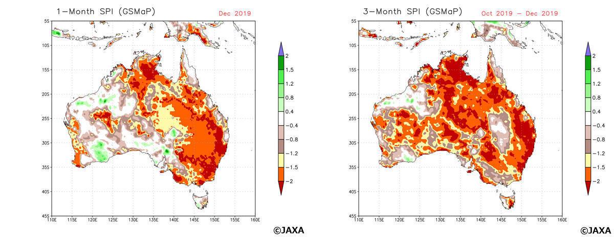 Massive bushfires in Australia seen from Space