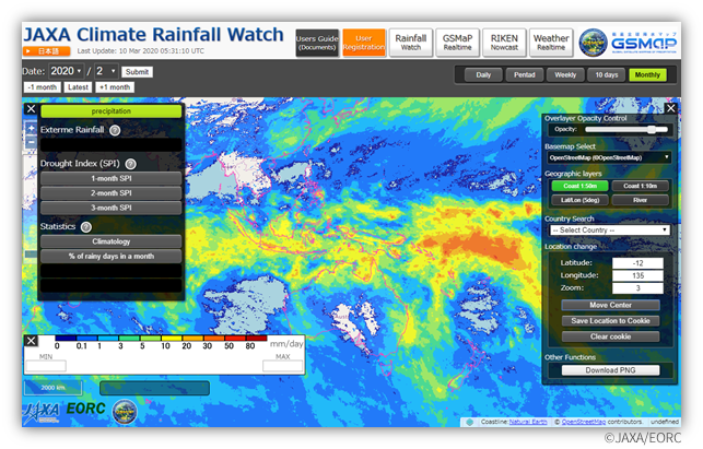 "Global Extreme Heavy Rainfall and Drought detected by GSMaP ∼ ""JAXA Climate Rainfall Watch"" website is now available∼"