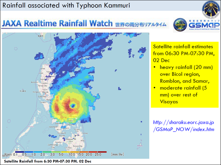 "GPM/DPR observed ""Hot tower"" in Typhoon Kammuri which hit Philippines"