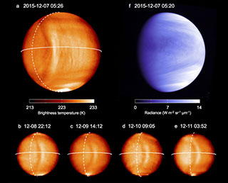 Finding the cause of a bow-shaped feature on Venus