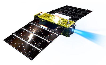 jaxa super low altitude test satellite tsubame slats