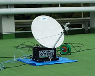 Communication establishment training with satellites using KIZUNA in a prediction of the Nankai Trough earthquake