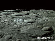 KAGUYA successfully takes images of the moon using HDTV camera!